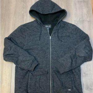 O'Neill Men's Full Zip Sherpa Lined Hoodie Jacket